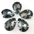Камни в цапах стекло Капля 13х18 мм серые (Gray)