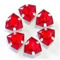 Камни в цапах стекло Треугольник 12 мм красные (Siam)