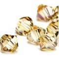 5328 Swarovski Биконус 5 мм Crystal Golden Shade