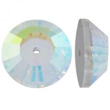 3128 Swarovski Кристалл пришивной c 1 отвертием 10 мм Crystal AB