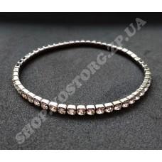 Браслет-резинка Swarovski ss10 черный никель