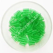 Стеклярус Preciosa 50100 зеленый прозрачный, 5 г