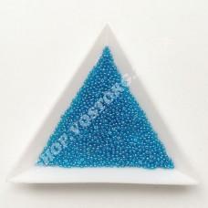 Бисер микро Preciosa 66030 голубой глазурированный 13/0, 5 г