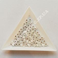 Бисер Preciosa 78102 matt серебристый 6/0 квадратное отверстие, 5 г