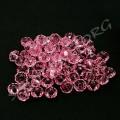 Бусина граненная 6х4 мм розовая, 10 шт