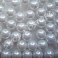 Бусина жемчуг 12 мм белый, 10 шт