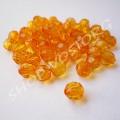 Бусина граненная 6 мм оранжевая, 10 шт