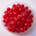 Бусина пластик 6 мм красная глазурь, 20 шт