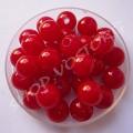 Бусина пластик глазурь 8 мм красная, 10 шт