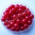 Бусина жемчуг 6 мм красный, 10 шт