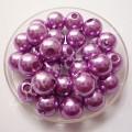 Бусина жемчуг 8 мм фиолетовый, 10 шт