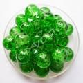 """Бусина """"Битое стекло"""" 8 мм зеленая, 5 шт"""