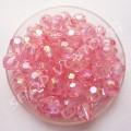 Бусина граненная 6 мм розовая АВ, 10 шт