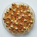 Бусина 6 мм золото, 100 шт
