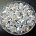 Бусина граненная стекло 8х7 мм прозрачная АВ