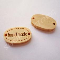 Бирка деревянная Hand made 19 мм
