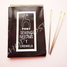 Иглы для шитья Pony Crewels размер 1