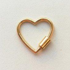 Карабин Сердце светлое золото