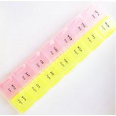 Органайзер таблетница пластик на 14 ячеек, отдельные ячейки