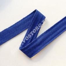 Лента киперная 2 см синяя электрик, 1 м