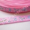Лента атласная 1 см Hand-made розовая, 1 м