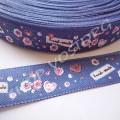 Лента атласная 2 см Hand-made синяя, 1 м
