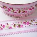 Лента декоративная 2,5 см зубчики розовая, 1 м