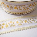Лента декоративная 2,5 см зубчики желтая, 1 м