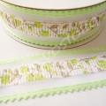 Лента декоративная 2,5 см зубчики салатовая, 1 м