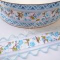 Лента декоративная 2,5 см с перфорацией голубая, 1 м