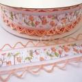 Лента декоративная 2,5 см с перфорацией персиковая, 1 м