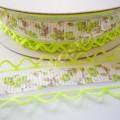 Лента декоративная 2,5 см с перфорацией салатовая, 1 м