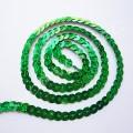 Пайетки на нитке зеленые голограмма, 1 м