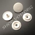 Кнопка пластиковая 13 мм белая