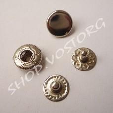 Кнопка Альфа 10 мм, цвет никель