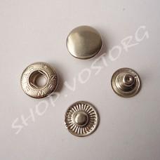 Кнопка Альфа 15 мм нержавеющая, цвет никель
