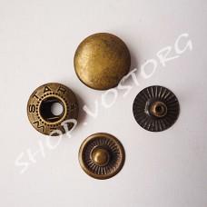 Кнопка Альфа 12,5 мм, цвет антик