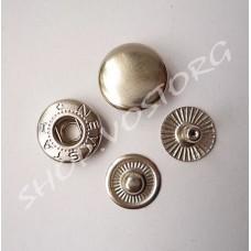 Кнопка Альфа 12,5 мм, цвет никель