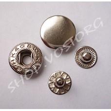 Кнопка Альфа 15 мм, никель