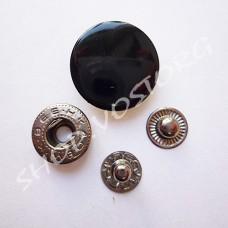 Кнопка Альфа 20 мм, черный лак