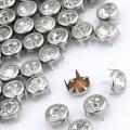 Крабик со стразом 7 мм никель, 5 шт