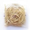 Канитель мягкая 1 мм белое золото, 5г