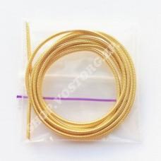 Канитель жесткая 1.2 мм светлое золото, 5г