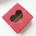 Коробка для бижутерии складная Сердце красная