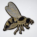 Аппликация с бисером Пчела 10х9 см
