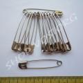 Булавки английские крепкие 5,5 см серебристые, 12 шт