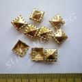 Крабик пирамидка 8 мм золотистый, 10 шт