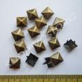 Крабик пирамидка 8 мм антик, 10 шт