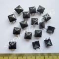 Крабик пирамидка 7 мм черный нержавейка, 10 шт
