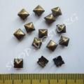 Крабик пирамидка 5 мм антик, 20 шт